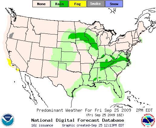 Rain Forecast Central US (Courtesy NOAA)