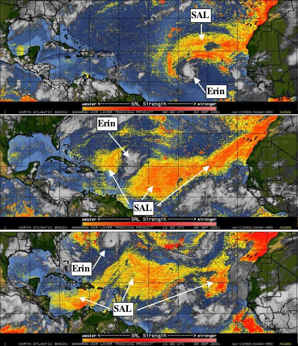 Saharan Air Layer, 2001, Image Credit: NOAA