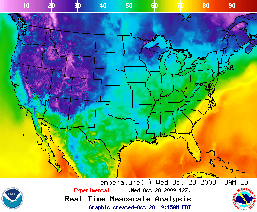 Temperature Forecast, Image: NOAA