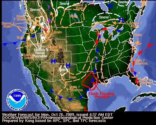 National Forecast Map, Image: NOAA