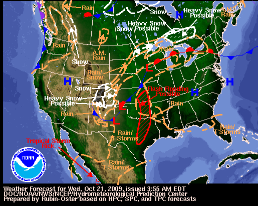 National Forecast, Image: NOAA