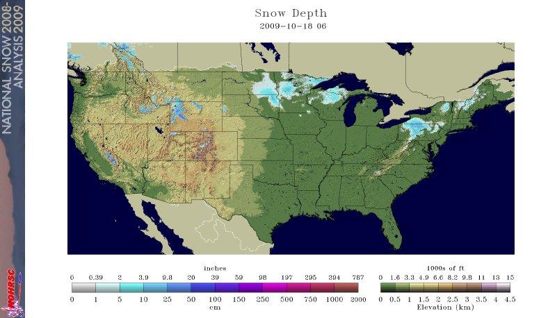 Today's Snow Depth, Image: NOAA