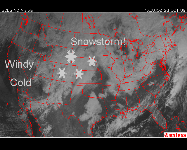 Visible Satellite, Image: Unisys Weather