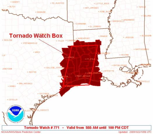Expired Tornado Watch, Image: NOAA