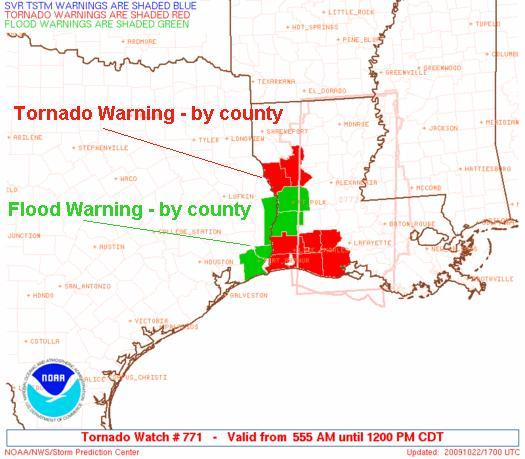 Expired Weather Warnings, Image: NOAA