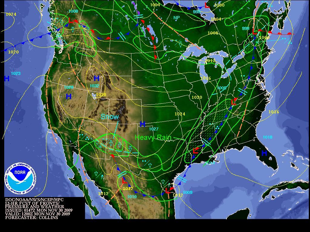 Monday Forecast, Image: NOAA