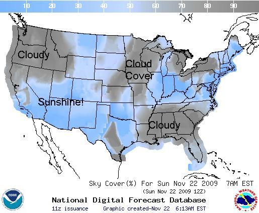 Sky Cover, Image: NOAA