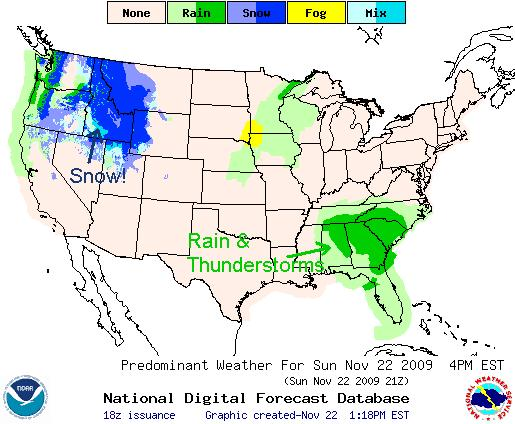Precipitation Forecast, Image: NOAA
