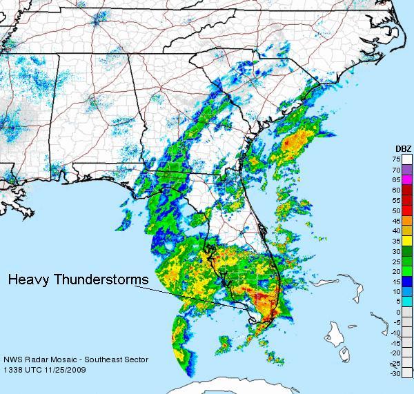 Southeast US Radar, Image: NOAA (Image is OLD!)