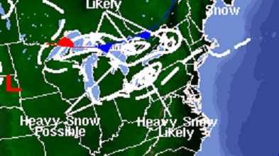 Lake Effect Snow Event, Image: NOAA