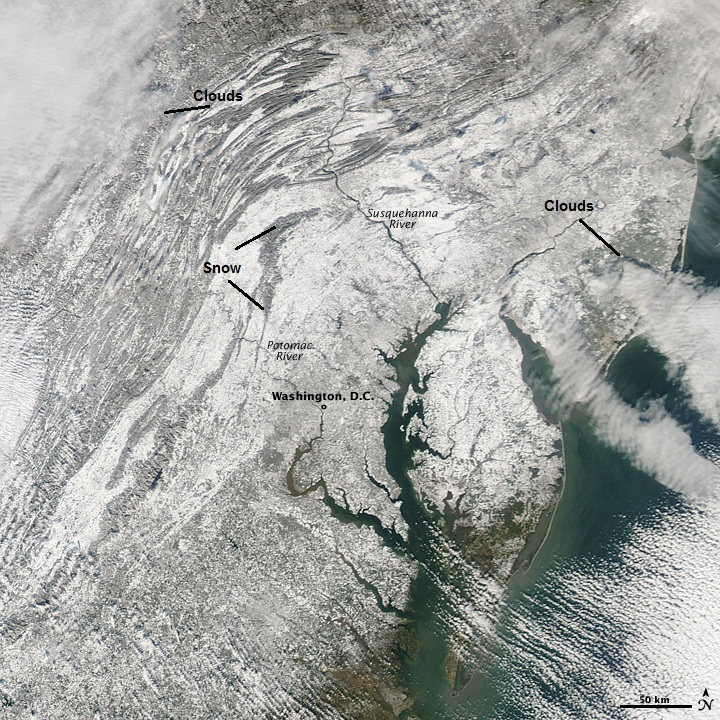 Space Shot, Blizzard of 2009, Image: NASA