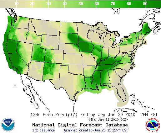 Rainfall Forecast, Image: NOAA