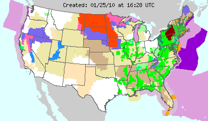 US Watches and Warnings, Image: NOAA