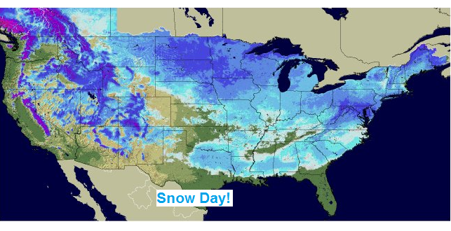 Snow Covers 49 States, Image: NOAA