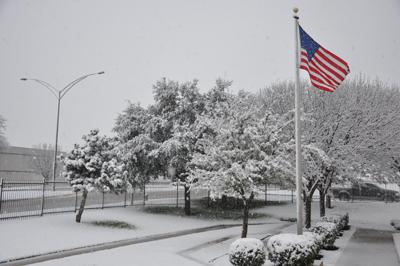 Dallas/Fort Worth Snow, Image: NOAA