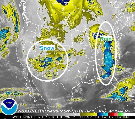 National Satellite Image, Image: NOAA