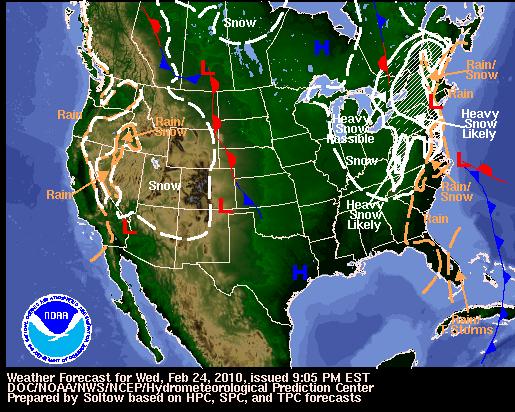 National Forecast, Image: NOAA