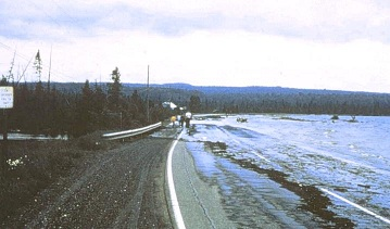1960's Seiche in Baraga County, Michigan, Image: Baraga County Historical Museum