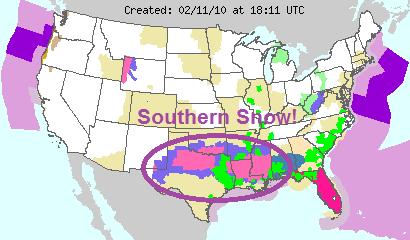Winter Storm Warnings, Image: NOAA