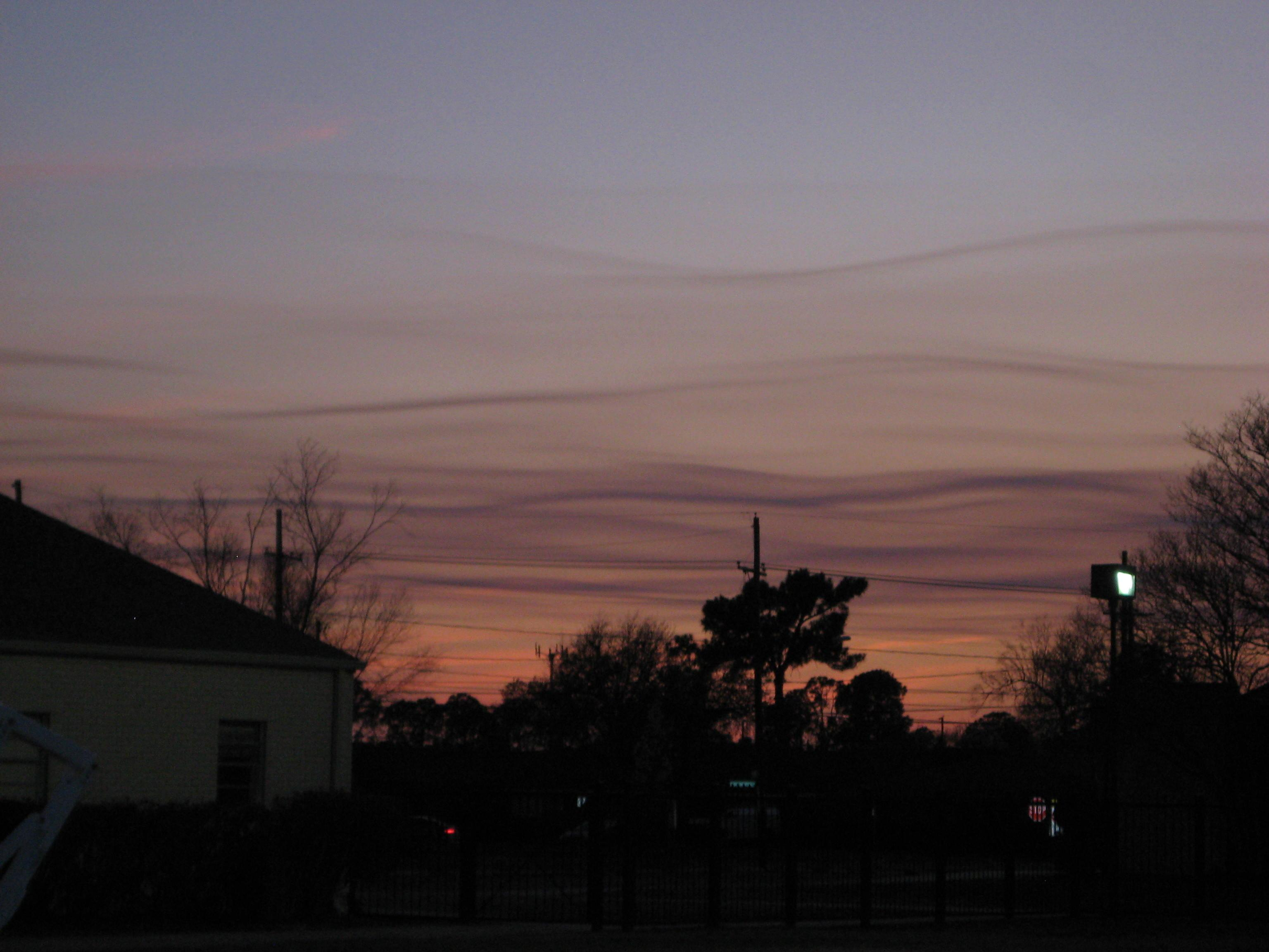 Cirrus Clouds, New Orleans Sunset