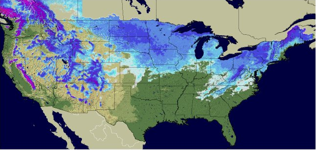 National Snow Depth, Image: NOAA