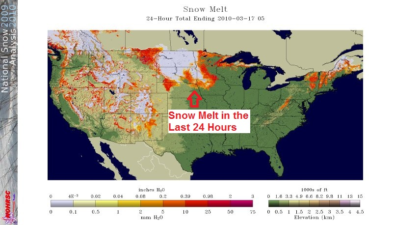 24-Hour Snow Melt, Image: NOAA