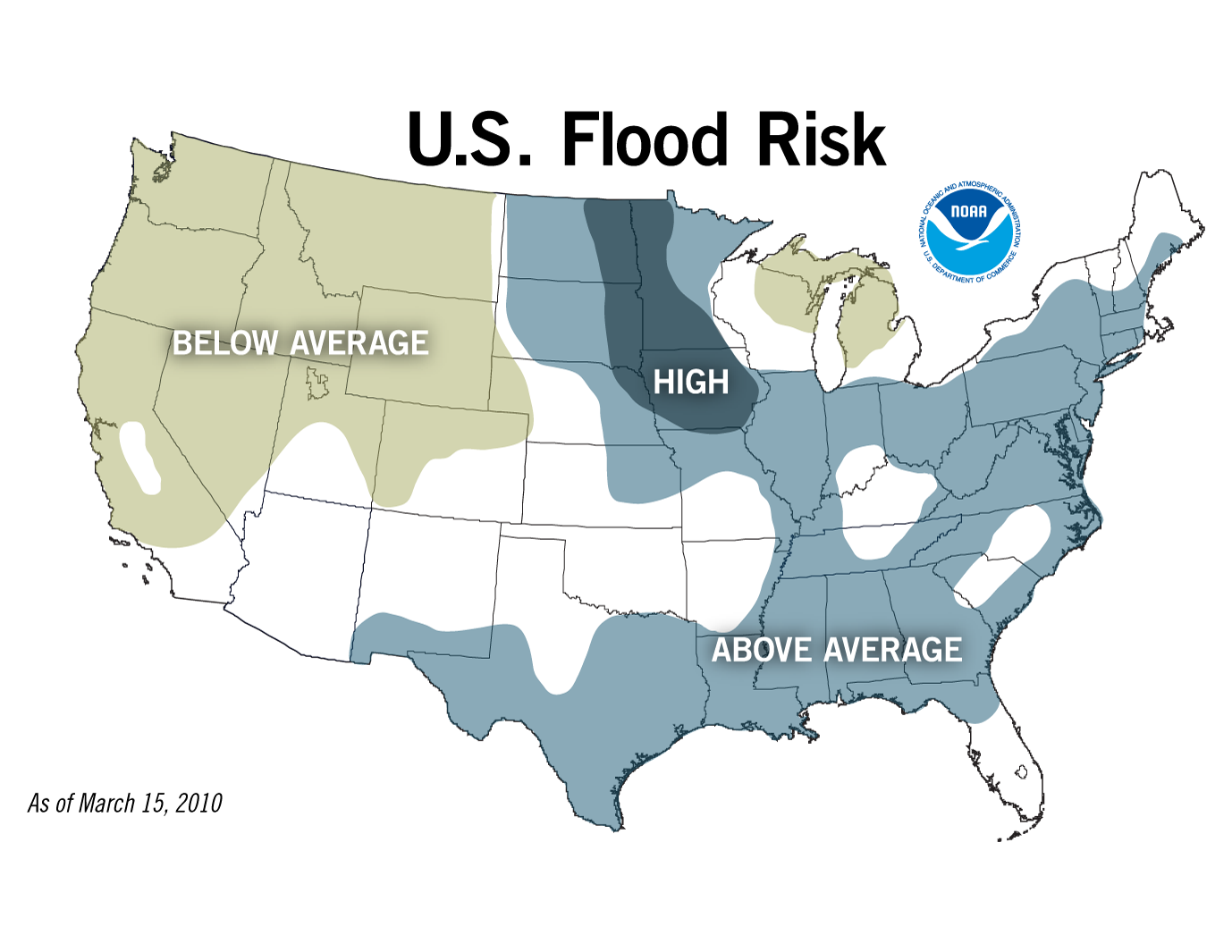 US Flood Risk, Image: NOAA