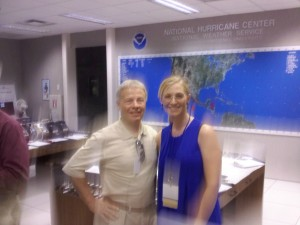 Bob Breck and Dawn Brown, FOX 8 New Orleans, National Hurricane Center