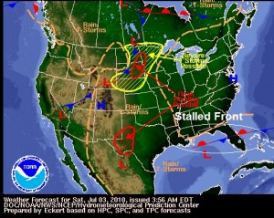 Stalled Frontal Boundary, Image: Unisys