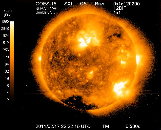 Solar X-Ray, GOES Satellite