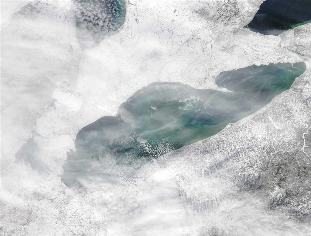 January 11, 2011 Lake Erie Ice Cover, Image: NOAA