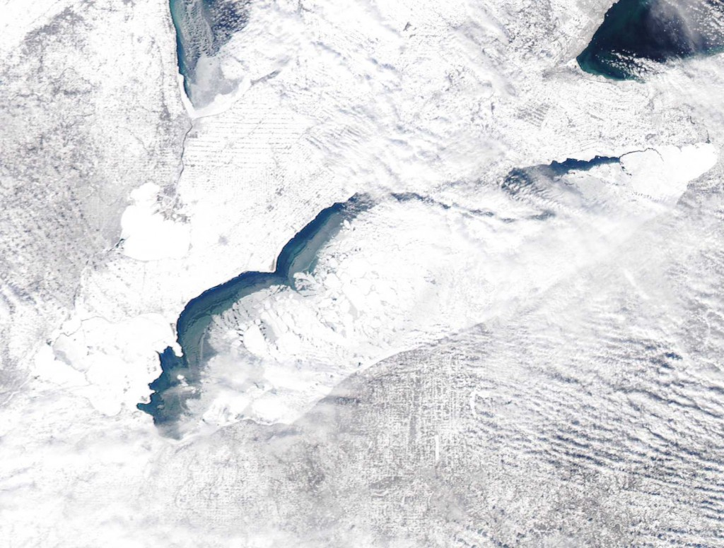 February 8, 2011 Lake Erie Ice Cover, Image: NOAA
