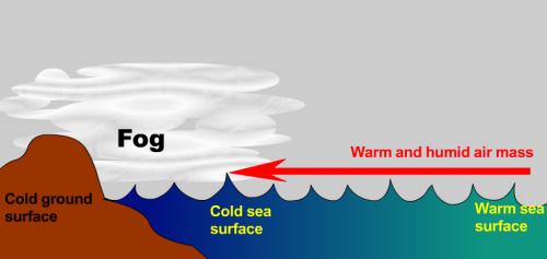 Sea Fog Formation, Image: Hong Kong Observatory