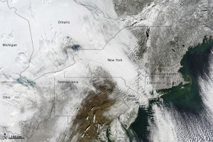 2011 Northeast Storm, Image: NASA