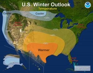 NOAA Winter Outlook, courtesy: NOAA