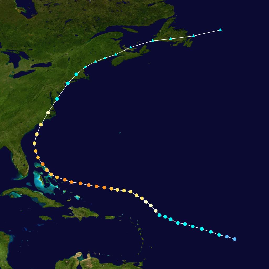 Hurricane Floyd 1999 Track